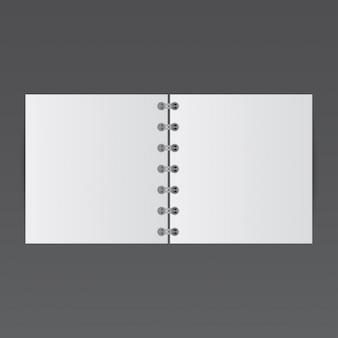 Eenvoudige notepad, mockup