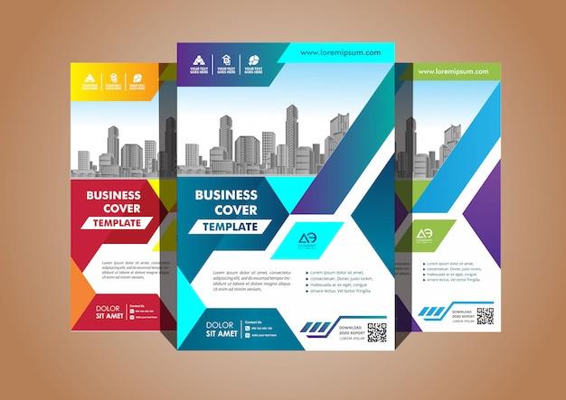 Eenvoudige omslag lay-out brochure tijdschrift catalogus folder voor achtergrond