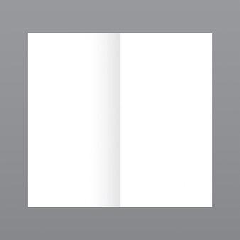 Eenvoudige open tijdschrift, mockup met grijze achtergrond