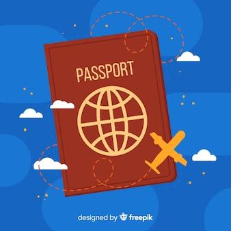 Eenvoudige paspoort achtergrond