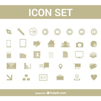 Eenvoudige pictogrammen set
