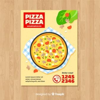 Eenvoudige pizza flyer sjabloon