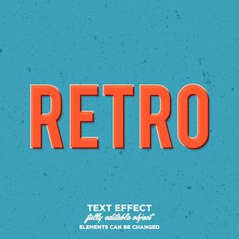 Eenvoudige retro tekststijl met vervagen halftoonpatroon