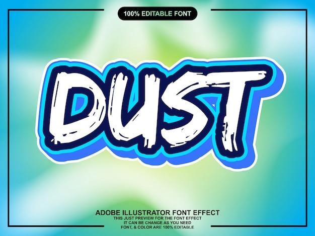Eenvoudige roestige sticker lettertype effect