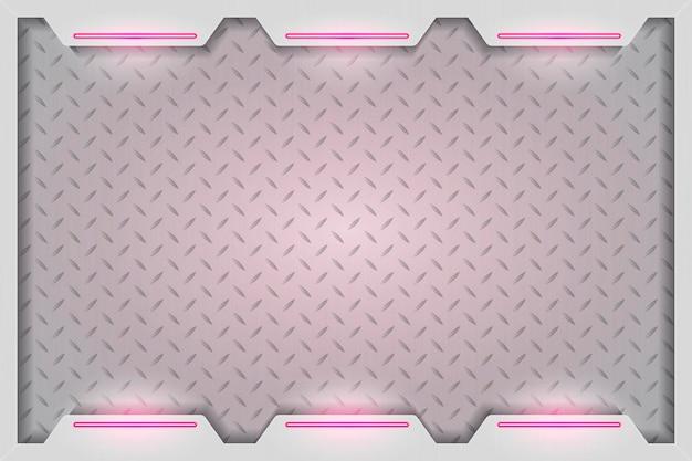 Eenvoudige roze technologie achtergrond Gratis Vector