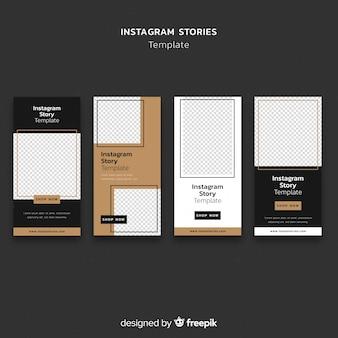 Eenvoudige sjabloon met instagramverhalen