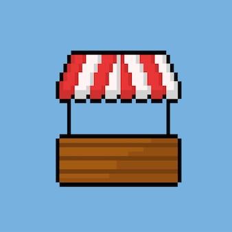 Eenvoudige standwinkel met pixelkunststijl