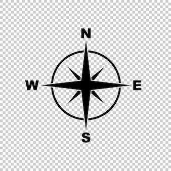 Eenvoudige stijl kompas symbool op transparante achtergrond. vectoreps 10