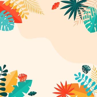 Eenvoudige tropische palm- en motsterabladeren natuurlijk