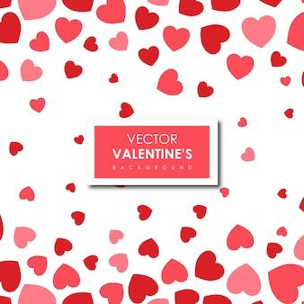 Eenvoudige valentijns harten achtergrond