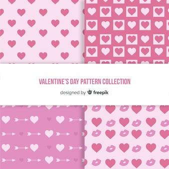 Eenvoudige valentijnsdag patroon collectie