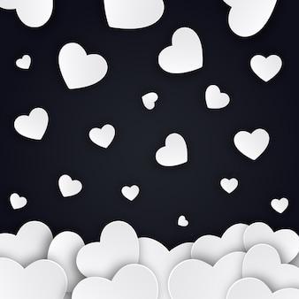 Eenvoudige valentijnsdag vector harten achtergrond