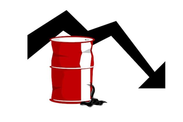 Eenvoudige vectorillustratie voor wereldoliecrisis
