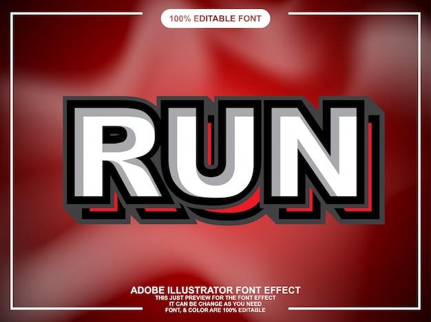 Eenvoudige vetgedrukte sticker lettertype-effect
