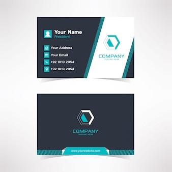 Eenvoudige vorm visitekaartje ontwerpsjabloon