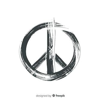Eenvoudige vredesteken achtergrond