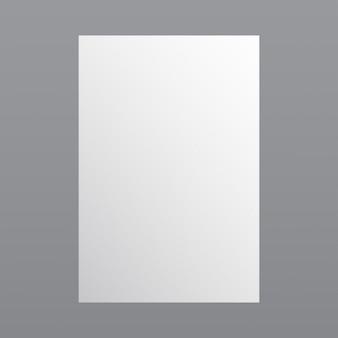 Eenvoudige witte papieren sjabloon
