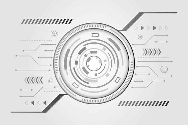 Eenvoudige witte technische achtergrond