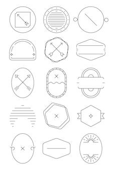 Eenvoudige zakelijke badge set