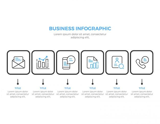 Eenvoudige zakelijke infographic sjabloon
