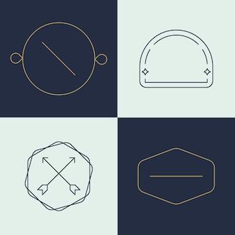 Eenvoudige zakelijke logo set