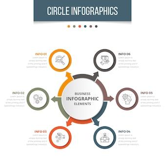 Eenvoudige zakencirkel infographic
