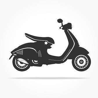 Eenvoudige zwevende scooter pictogram