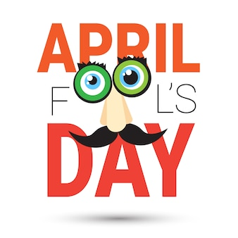 Eerste april fool day happy holiday wenskaart