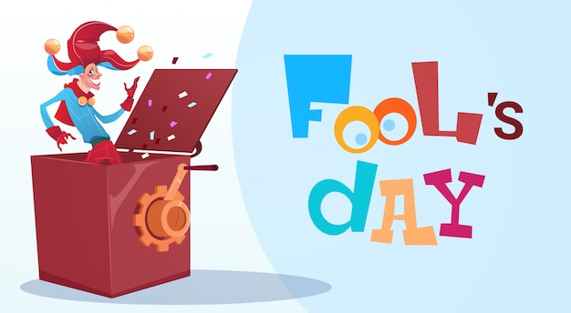 Eerste april fool day happy holiday wenskaart