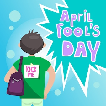 Eerste april fool day happy wenskaart