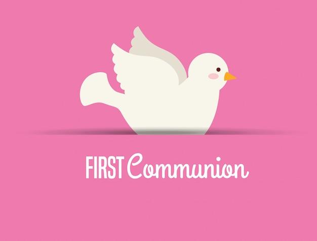 Eerste communie kaart ontwerp