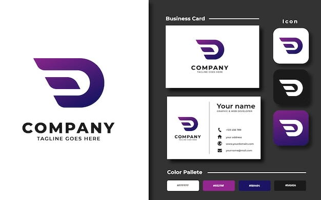 Eerste d logo-sjabloon