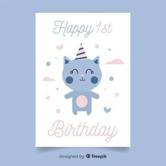 Eerste de uitnodigingskaart van de verjaardagspartij