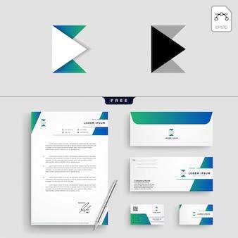 Eerste e abstracte logo sjabloon vectorillustratie