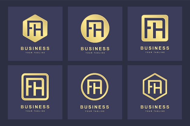 Eerste fa brief logo-ontwerp.