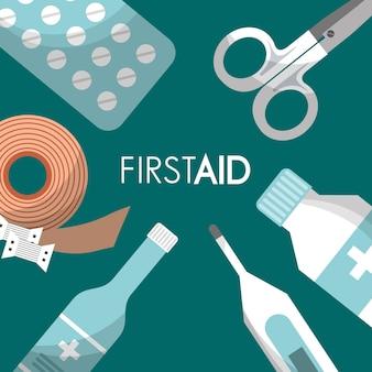 Eerste hulp kit medische gezondheid