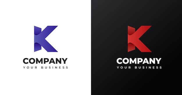Eerste k briefsjabloon logo ontwerp