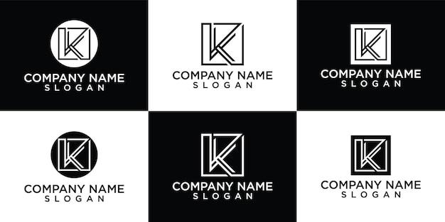 Eerste k letter logo ontwerpsjabloon