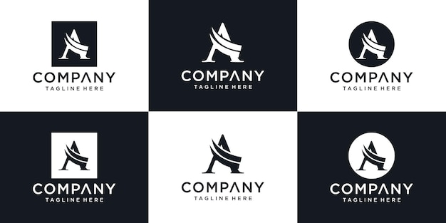 Eerste letter a logo sjabloon afbeelding ontwerp