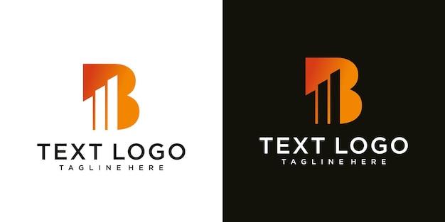Eerste letter b-logocollectie met modern creatief concept