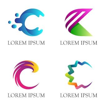 Eerste letter c bedrijfslogo ontwerp