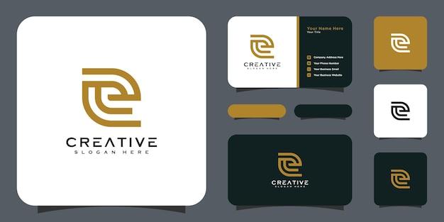 Eerste letter e-logo ontwerpsjabloon