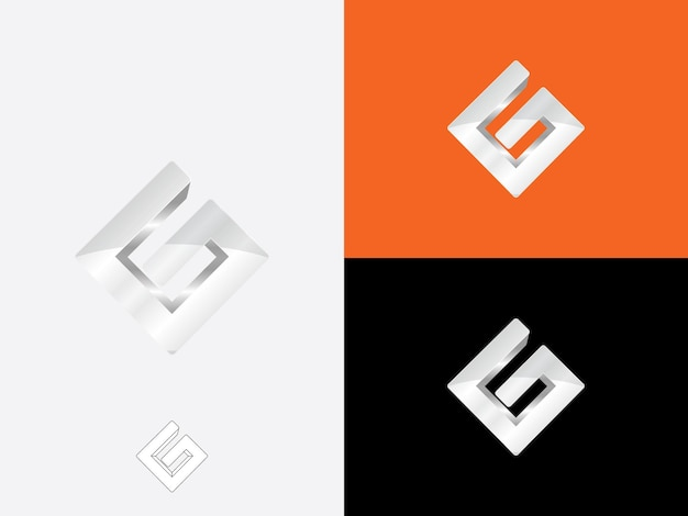 Eerste letter g in ruitvorm met heldere grijze kleur logo vector monogram pictogrammalplaatje