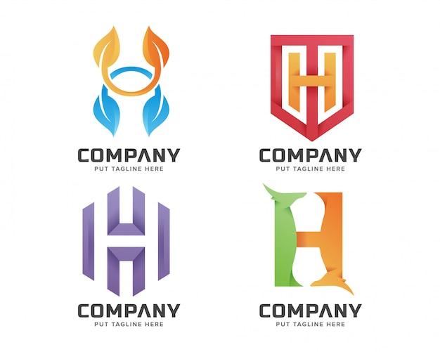 Eerste letter h logo sjabloon voor bedrijf