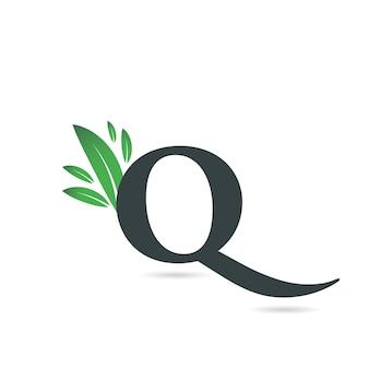 Eerste letter q leaf logo