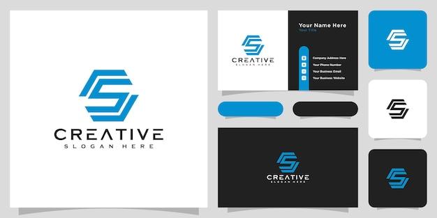 Eerste letter s logo vector ontwerp lijnstijl