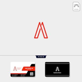 Eerste minimale logo-sjabloon