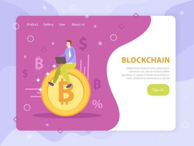 Eerste munt die blockchain crypto-valuta online crowdfunding aanbiedt
