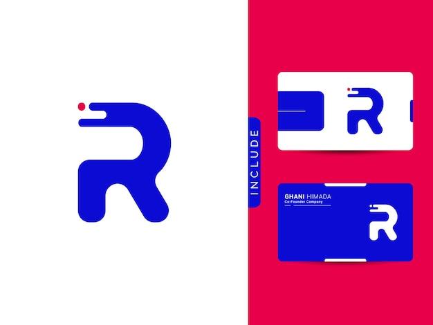 Eerste r logo ontwerp concept vector