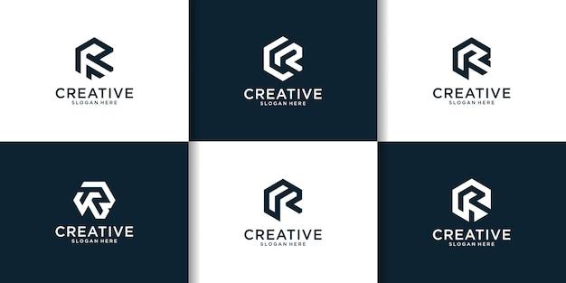 Eerste set inspiratie voor r-logo-ontwerp